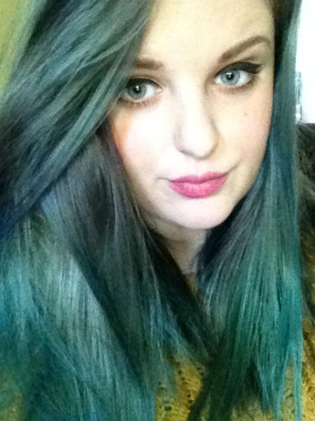 la riche directions purple green hair