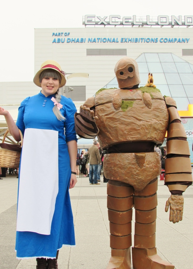 These guys were rounding up other Studio Ghibli cosplayers for a big photo later that day. That iron golem costume took around 5 months to create!