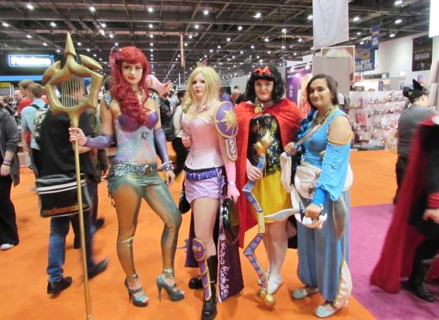 Warrior Disney Princesses cosplay
